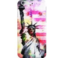 Patriotic Lady of Liberty iPhone Case/Skin