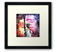 Patriotic Lady of Liberty Framed Print