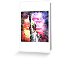 Patriotic Lady of Liberty Greeting Card
