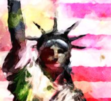 Patriotic Lady of Liberty Sticker
