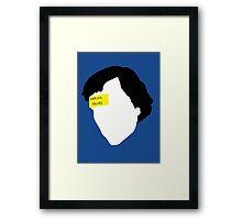 Sherlock Holmes, The Sign Of Three 2.0 Framed Print