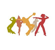 Colorful Jazz Dancers by peculiardesign