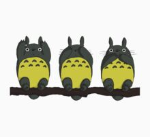 Three Wise Totoros  One Piece - Short Sleeve