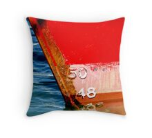 heel of draught of a red ship Throw Pillow