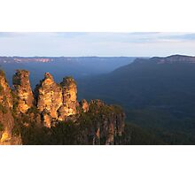 Three Sisters, Blue Mountains Sunset Photographic Print