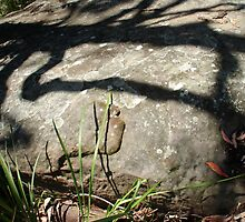 Shadow play, rock painting by Stephen Denham