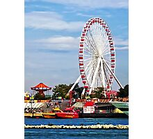 Chicago IL - Ferris Wheel at Navy Pier Photographic Print