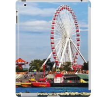 Chicago IL - Ferris Wheel at Navy Pier iPad Case/Skin