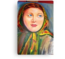 Woman with a scarf Canvas Print