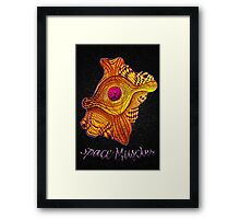 Space Muscles Framed Print