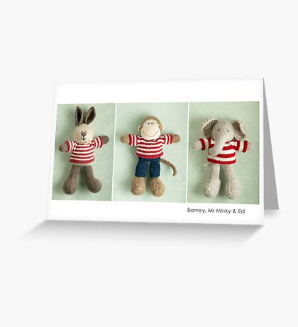stripey boys Greeting Card