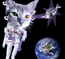 Space cat. by tuncdindas