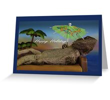 Happy Holiday Lizard Greeting Card