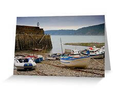 Clovelly Harbour Greeting Card