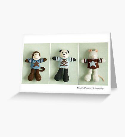 blue & brown Greeting Card