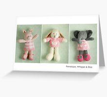 pink girls Greeting Card