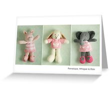 pink girls Greeting Card