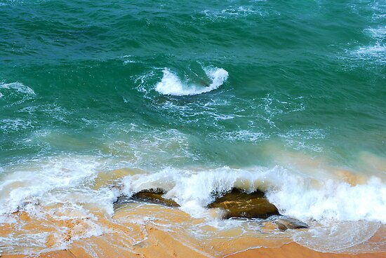 Surf Swirl - Bar Beach NSW by Bev Woodman