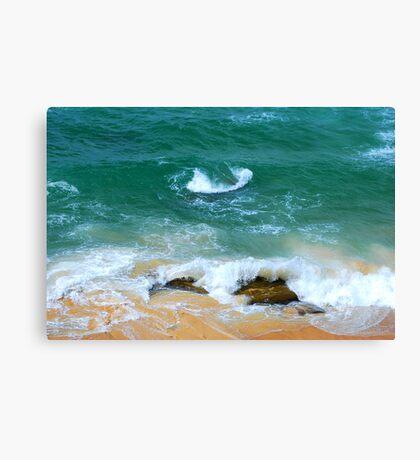 Surf Swirl - Bar Beach NSW Canvas Print
