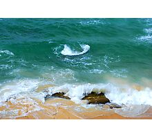 Surf Swirl - Bar Beach NSW Photographic Print
