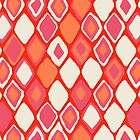 Almas diamond ikat fire by Sharon Turner