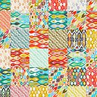 Indian Summer ikat patches by Sharon Turner