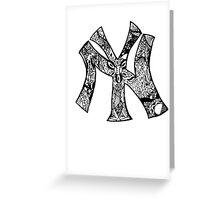 NY Yankees zentangle Greeting Card
