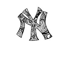 NY Yankees zentangle Photographic Print
