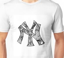 NY Yankees zentangle Unisex T-Shirt