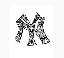 NY Yankees zentangle Unisex T-Shirt