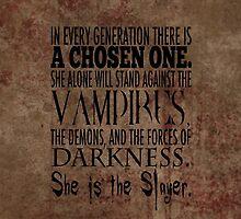 Buffy-The Chosen One by geekgal212