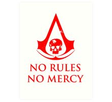 No rules Assassins Creed Black Flag Art Print