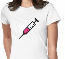Injection syringe Womens Fitted T-Shirt