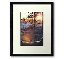 Magical winter forest III Framed Print