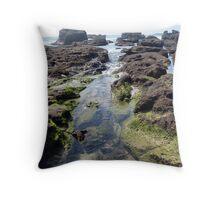 Rock Platform: Caves Beach Throw Pillow