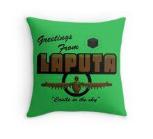 Greetings from laputa Throw Pillow