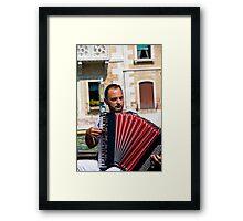 Gondolier Musician Framed Print