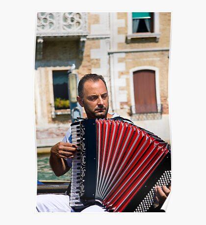 Gondolier Musician Poster