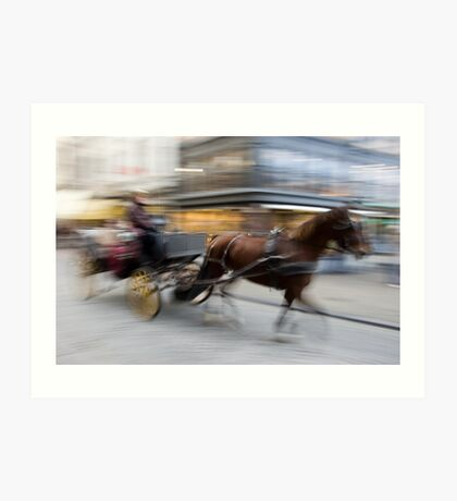 Carriage and Cobblestone Art Print