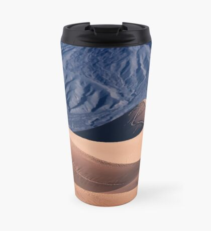 Sunrise over Mesquite Flat Sand Dunes Travel Mug