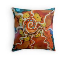 Swirly Swirls Blips & Blops Throw Pillow