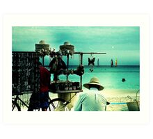 beach vendors Art Print