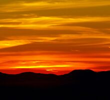 Mountain Sunset by Kathy Weaver