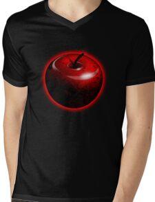 Red Shiny Candy Apple Mens V-Neck T-Shirt