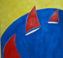 Red Sails Blue Seas by DeborahDinah