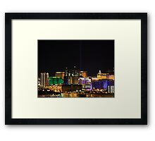 Vegas From Paradise Framed Print