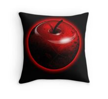 Red Shiny Candy Apple Throw Pillow