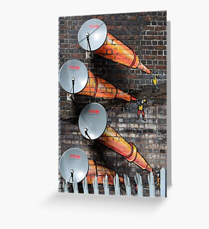 Graffiti - Satellite Greeting Card