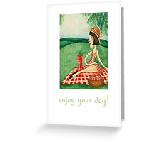 enjoy your day (picnic) Greeting Card