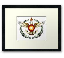 Qatar Air Force Emblem Framed Print